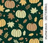 Simple Autumn Pattern. Golden...