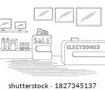 electronics store interior... | Shutterstock .eps vector #1827345137