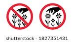 do not pluck or grab flowers... | Shutterstock .eps vector #1827351431