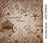 vintage sepia hand drawn...   Shutterstock .eps vector #182739854