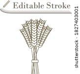 wheat icon. editable stroke...