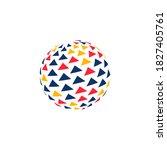 abstract business logo.... | Shutterstock .eps vector #1827405761