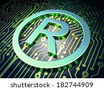 law concept  circuit board with ...   Shutterstock . vector #182744909
