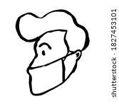 doodle grunge line drawing....   Shutterstock .eps vector #1827453101