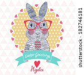 funniest easter card in vector. ... | Shutterstock .eps vector #182746181