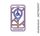 city navigation app rgb color... | Shutterstock .eps vector #1827463547