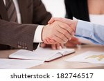 sealing a deal. close up of two ... | Shutterstock . vector #182746517