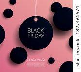 black friday vector banner or... | Shutterstock .eps vector #1827465974