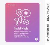 social media marketing thin... | Shutterstock .eps vector #1827491414