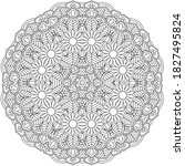 Floral Pattern With Mandala...