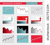 infographic elements  charts ... | Shutterstock .eps vector #182751104