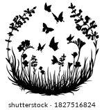 illustration of butterflies... | Shutterstock .eps vector #1827516824