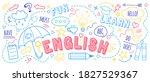 english language learning...   Shutterstock .eps vector #1827529367