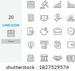 set of finance thin line icons  ... | Shutterstock .eps vector #1827529574