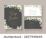 wedding floral card with... | Shutterstock .eps vector #1827540644