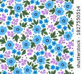 elegant floral pattern in small ...   Shutterstock .eps vector #1827550514