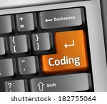 keyboard illustration with... | Shutterstock . vector #182755064