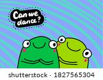 can we dance hand drawn vector... | Shutterstock .eps vector #1827565304