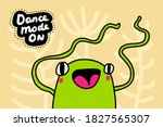 dance mode on hand drawn vector ... | Shutterstock .eps vector #1827565307