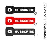 subscribe button icon set....