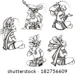 people characters in ancient...   Shutterstock .eps vector #182756609