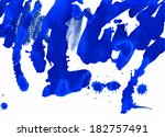 Royal Blue Abstract Painted...