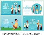 landing page templates for...   Shutterstock .eps vector #1827581504