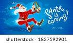 christmas santa claus drives...   Shutterstock . vector #1827592901