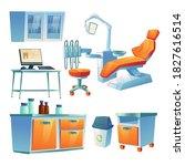 dentist cabinet  stomatology...   Shutterstock .eps vector #1827616514