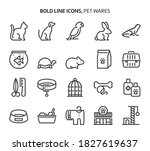 pet wares  bold line icons. the ...   Shutterstock .eps vector #1827619637