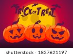 happy halloween trick or treat... | Shutterstock .eps vector #1827621197