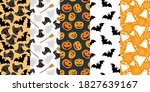 halloween pattern background...   Shutterstock .eps vector #1827639167