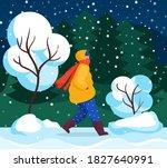 character walk in winter ... | Shutterstock .eps vector #1827640991
