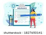 health insurance abstract... | Shutterstock .eps vector #1827650141