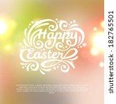 happy easter lettering greeting ... | Shutterstock .eps vector #182765501