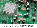 computer circuit board with... | Shutterstock . vector #182765801