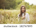 portrait of a beautiful young... | Shutterstock . vector #182767895