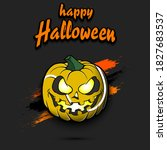 happy halloween. template... | Shutterstock .eps vector #1827683537