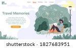 travel book for good memory.... | Shutterstock .eps vector #1827683951