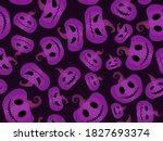 spooky pumpkins seamless... | Shutterstock .eps vector #1827693374