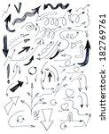 hand drawn set of doodle arrows | Shutterstock . vector #182769761