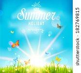 lovely summer holiday... | Shutterstock .eps vector #182769815