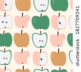 Apple Seamless Pattern. Cute...