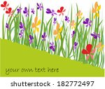 spring background with colorful ... | Shutterstock .eps vector #182772497