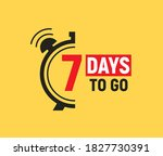 7 days to go last countdown... | Shutterstock .eps vector #1827730391