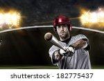baseball player on a baseball... | Shutterstock . vector #182775437