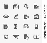books and library icons  vector. | Shutterstock .eps vector #182775779