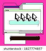 retrofuturistic vector collage... | Shutterstock .eps vector #1827774857