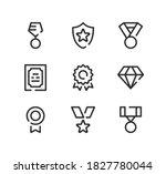award line icons set. modern... | Shutterstock .eps vector #1827780044