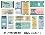ferry tickets for ocean and sea ...   Shutterstock .eps vector #1827782147